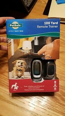PetSafe 100 Yard Remote Trainer ~ Protect Teach LOVE ~ for Dogs 8 lbs +