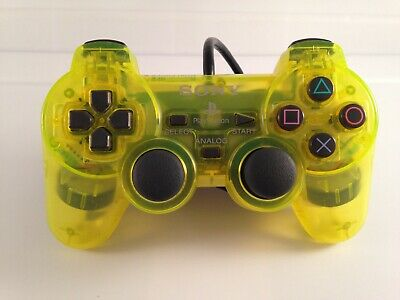 Sony DualShock2 PlayStation 2 PS2 Controller Official Authentic OEM LEMON YELLOW