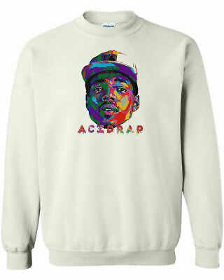 Chance The Rapper Acid Rap Crewneck Sweatshirt Hip Hop Rap 3 merch Coloring Book
