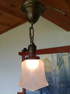 Set of 4 Arts & Crafts/mission Brass ceiling fixture/sconce,,antique,lamp #34