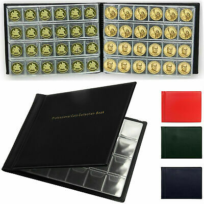 Money Penny Collection Storage Album Book 240 Holders Pocket Case Coin Coins UK