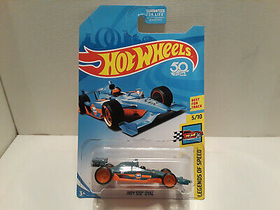 2018 Hot Wheels Super Treasure Hunt Gulf Indy 500 Oval Blue