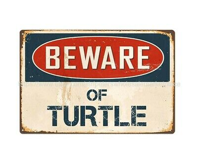 US SELLER, discount home decor beware of turtle metal tin sign