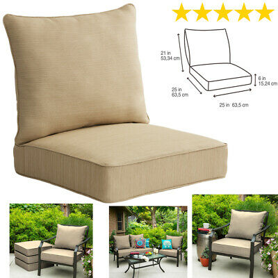 Outdoor Deep Seat Chair Patio Cushions Set Pad Weather Resistant