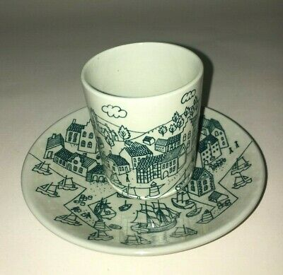 Nymolle Art Faience Hoyrup Demitasse Cup and Saucer Set