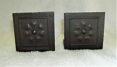 Copper Arts & Crafts Period Vintage Bookends Roycroft Style Small Unmarked