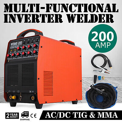 200A AC/DC IGBT ​Pulse ​TIG/MMA Inverter Welder TIG-200AC ALLOYED MATERIALS IGBT