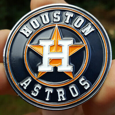 PREMIUM MLB Houston Astros Poker Card Guard Chip Protector Golf Marker Coin