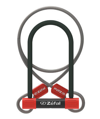 Bike Security Lock Zefal K-Traz U13 Combination D-Lock 230mm Sold Secure Silver