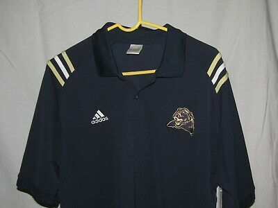 a8dce8b49ec0 University Of Pittsburgh Panthers Blue Adidas Polo Shirt Large Climalite