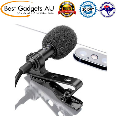 Lavalier Lapel Microphone Omnidirectional Mic with Easy Clip On System Recording