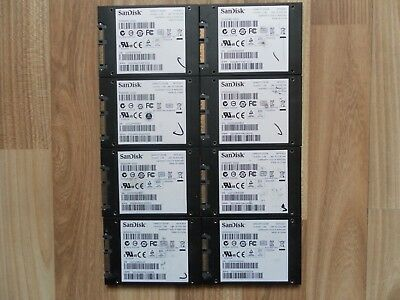 Lot of (8) SSD SanDisk Ready Cache 32GB 100% Life condition