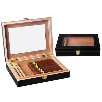Cigar Humidor Cedar Wood Travel Case Box Set With Magnets For Cohiba Cigars
