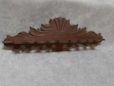 French Vintage WOOD Carved Ornate Wall PIPE Rack Holder