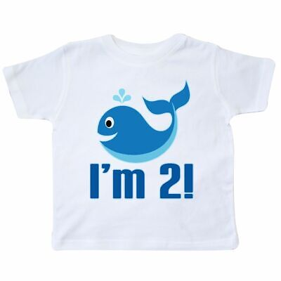 Inktastic 2 Year Old 2nd Birthday Whale Toddler T-Shirt Two Im Boys Cute Beach