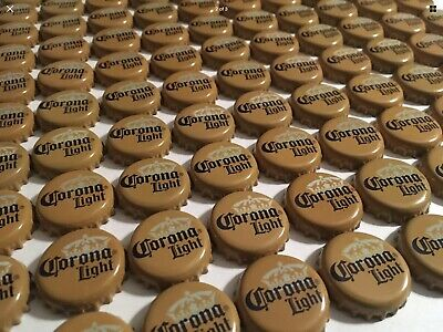100 Corona Light beer bottle caps, NO dents or Crimping, Perfect Condition