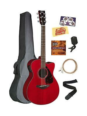 7b43641a39 Yamaha FSX800C Small Body Acoustic-Electric Guitar Bundle with Gig Bag,  Tuner.