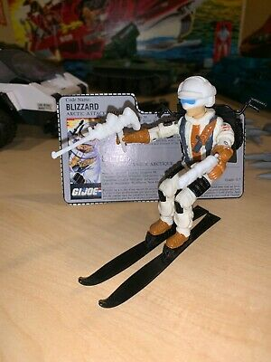 GI JOE 1988 BLIZZARD SKI ONE DAY HANDLING