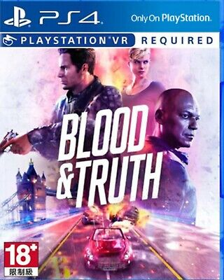 Blood & Truth VR GAME Chinese/English subtitle PS4 BRAND NEW