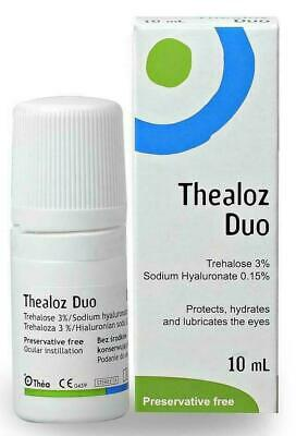 THEALOZ DUO MULTI PACKS 1, 2 or 3 PACKS Eye Drops 10ml Lubricates Dry Eyes