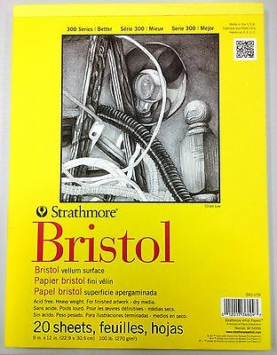 Strathmore Artist Papers 300 Series Smooth Bristol Board Pad: 20 Sheets A4+