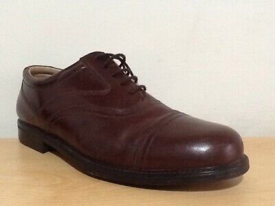 MENS CLARKS LEATHER Toe Cap Wide Fit Office Formal Lace Up Shoes Size 9 H Eu 43