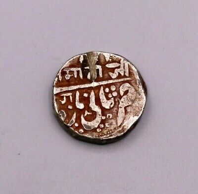 ANCIENT ANTIQUE OLD HANDMADE SOLID SILVER COIN MATAJI PRINT GINNY INDIA cn03