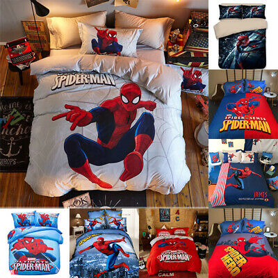 Spiderman Duvet Cover Sets Kids Boys Bedding  –  Junior, Single, Double