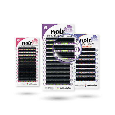 Easy Fanning Lashes Noir Self Fanning Eyelash Extensions Russian Volume C D Curl