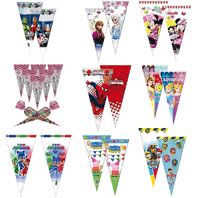 Sweet Cones Party Loot Cello Filler Treat Bags Avengers Princess Paw Patrol