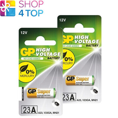 2 Gp Alkaline Super Battery 23A A23 Mn21 V23Ga 12V Exp 2022 Made In China New