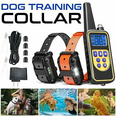 Dog Shock Training E Collar With Remote Coach Electric Trainer Small Big Large