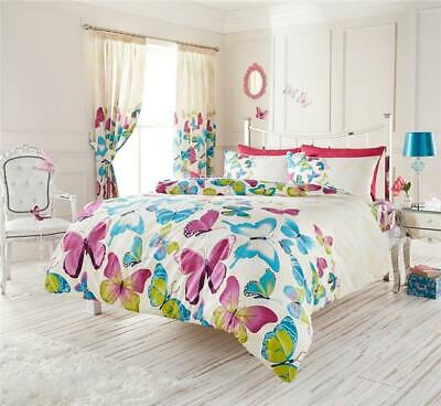 KING SIZE duvet cover set pretty butterfly quilt cover bedding