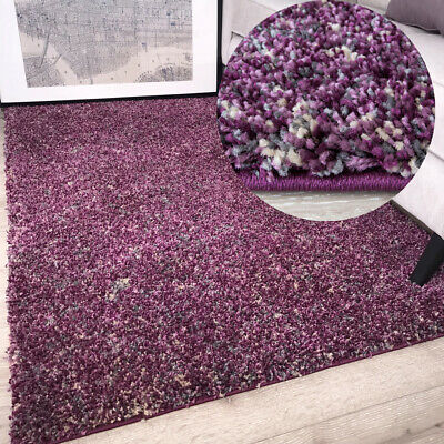 Plum Purple Super Soft Deep Shaggy Rugs No Shed Thick Cheap Affordable Area Rug