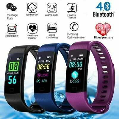 Bluetooth Smart Watch Bracelet Heart Rate Monitor Sport Fitness Tracker Fit Bit