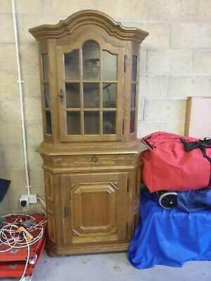Exceptional Antique Style Dutch Bookcase Display Cabinet