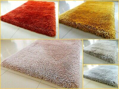 Soft Chunky Extra Thick Long 9Cm Heavy Shaggy Pile Area Rug Luxury Plush Carpet