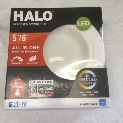 buy online 21487 a0f1b HALO RL 4 in. White LED Recessed Ceiling Light Fixture ...