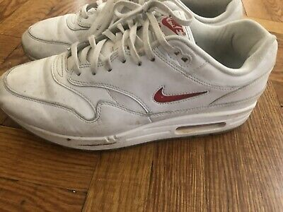 3b3cf63924 Used Nike Air Max 1 Premium SC Jewel Ruby White/University Red Size 11  supreme