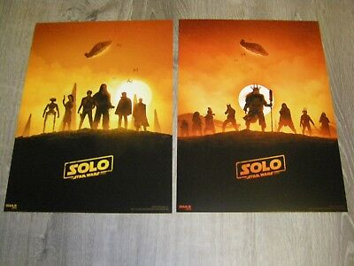 Solo A Star Wars Story AMC Exclusive IMAX Posters Week 1 and Week 2