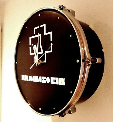 Rammstein Upcycled Drum Clock