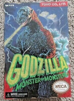"Godzilla Neca Figure Brand New Rare 12"" Head To Tail Video Game Appearance"
