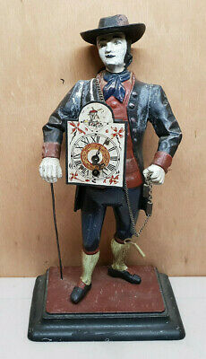 Pendulum Clock Statue Mens Hat L'Watchmaker Brand JVE with Key
