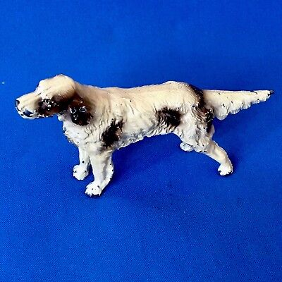 Antique Victorian Cold Painted Spelter Figure of a Hunting Dog