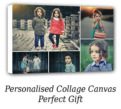 Personalised Canvas Collage Prints Photo Image 16x12 inch