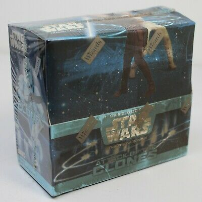 Star Wars Attack of the Clones Factory Sealed Booster Box