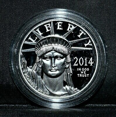 2014-W $100 Platinum American Eagle ✪ Proof ✪ 1 Oz Capsule Only L@@K ◢Trusted◣