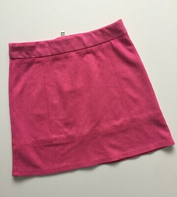River Island Suede Pink Skirt Age 9-10 Years I'll Combine Postage