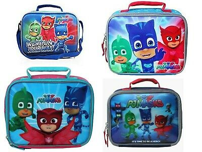 PJ MASKS GECKO CATBOY OWLETTE Boys Girls Insulated Lunch Tote Box Bag Gift Toy