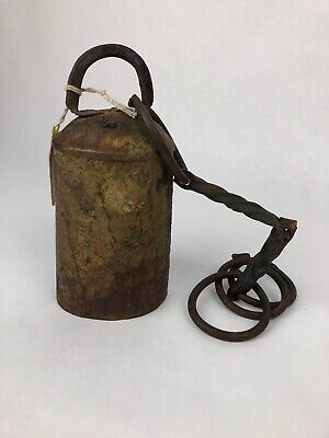 Early 1900s Vintage Antique Farm Primitive Cowbell Cow Bell - Fast Free Shipping